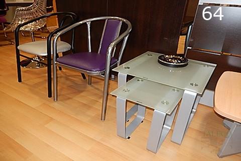 Mesa de cristal para sala de espera