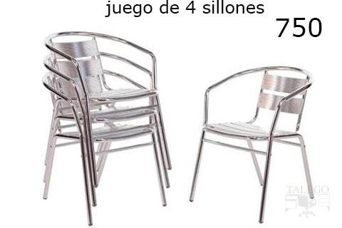 liquidacion sillas de terraza en aluminio