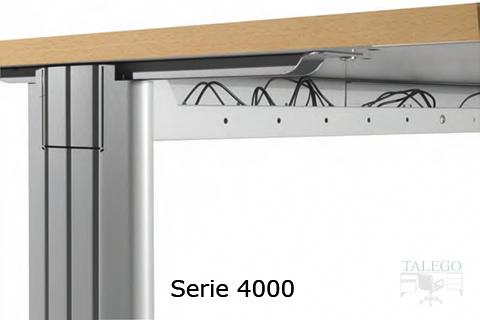 Detalle de uniòn de la estructura métalica con el sobre en la serie 4000