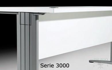Detalle de la pata métalica utilizada en las Series eur 3000 y 4000