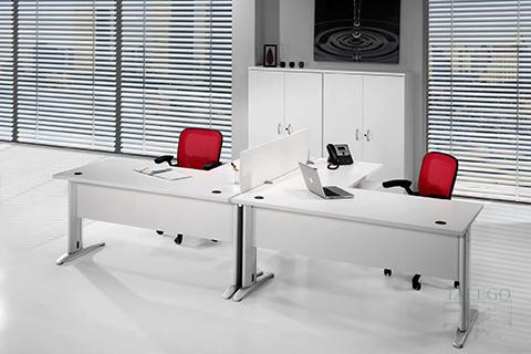 Mesas y armarios compatibles con la serie 3000 en Blanco o gris