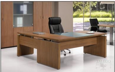 Mesa Despacho serie loma en nogal americano