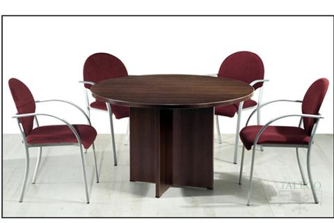 Mesa de juntas redonda en wengue de la serie 2000