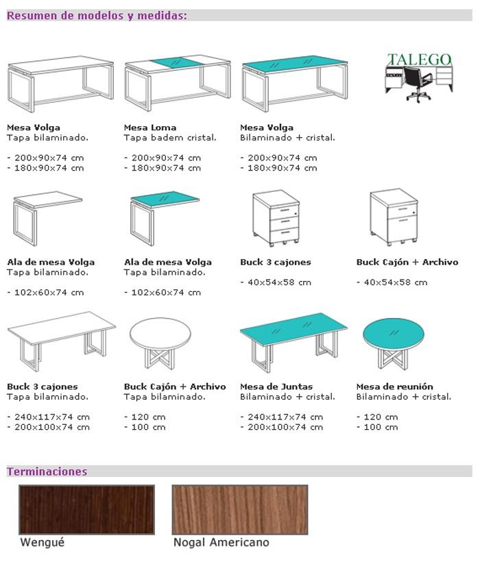 Muebles talego muebles de oficina y hosteler a madrid y for Medidas de muebles en planta