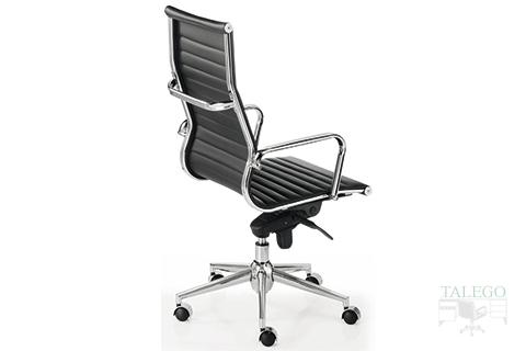 Vista trasera sillón giratorio respaldo alto modelo londresta