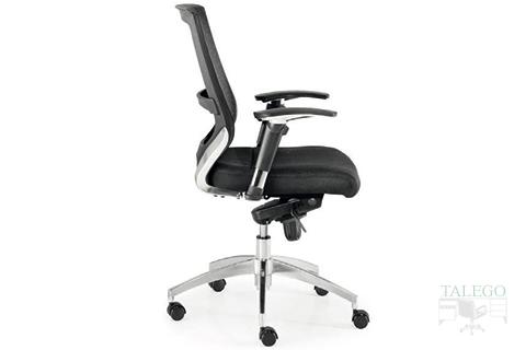Vista lateral de sillón giratorio modelo Maltata