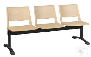 Bancada de 3 asientos en poliuretano modelo star