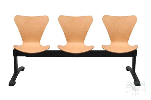 Bancada de tres asientos madera haya modelo Venus