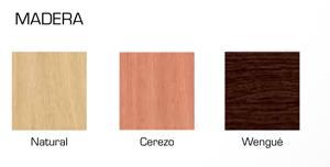 colores de madera posibles para este modelo