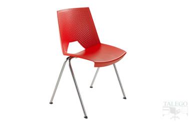 Silla fija de oficina modelo Calipso en color rojo