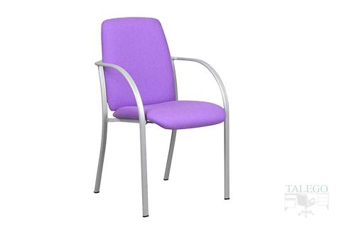 Version respaldo alto silla de oficina modelo icaro tapizada teal lila