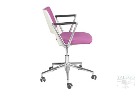 silla giratoria del modelo star con brazos y tapizada