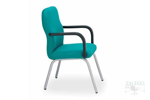 sillón fijo confidente de oficina modelo aloes tapizado verde