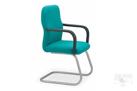 sillón fijo de oficina modelo aloes en tela verde