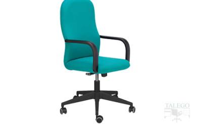 sillón de oficina giratorio modelo aloes en tela verde