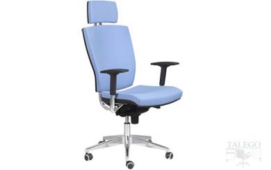 sillón despacho de oficina modelo ara tapizado y con base de aluminio