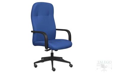 Sillón Dirección modelo Morfeo respaldo alto tapizado en azul