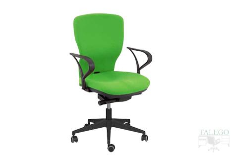 Sillon respaldo medio con brazos modelo pandora tapizado en verde