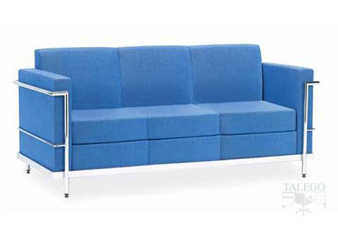 Sofa de tres plazas para sala de espera modelo luxor tapizado