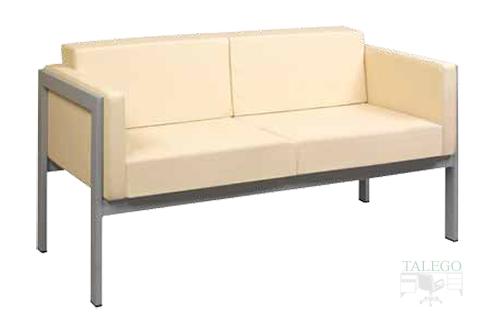 Sofa de dos plazas tapizado en beige modelo lyra
