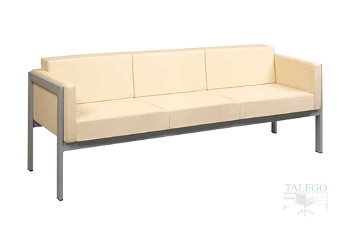 Sofa para sala de espera modelo lyra de tres plazas