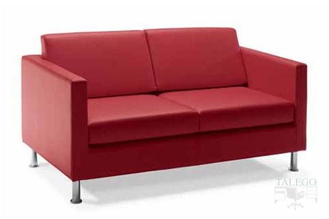 Sofa de dos plazas modelo menfis tapizado en granate