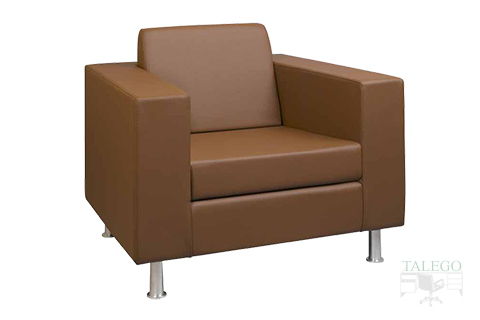 Sofa de una plaza modelo menfis cuatro con brazo ancho