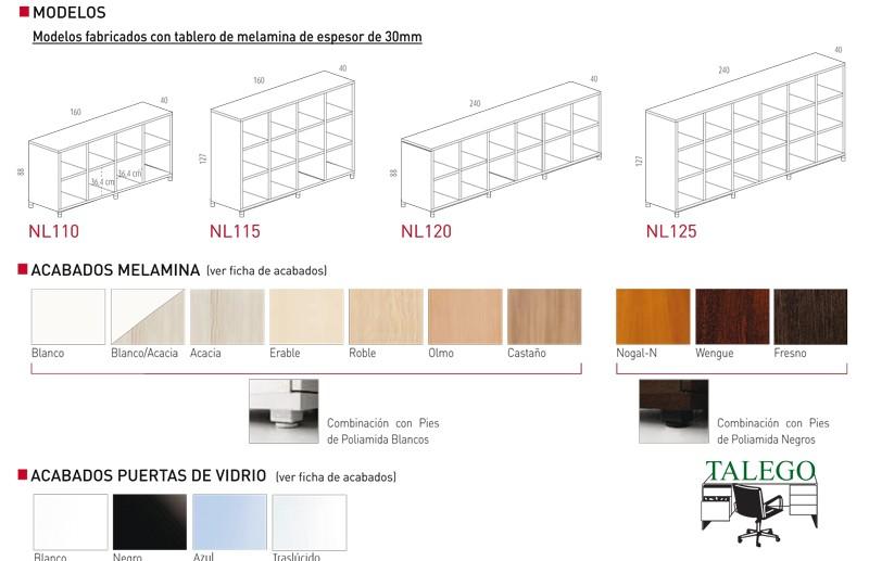 Medidas y colores en que se fabrican las librerias cubic