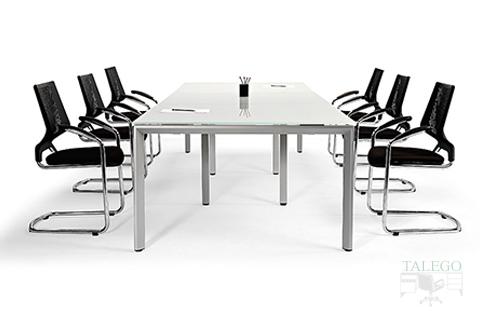 Mesa de Juntas de la Vital Plus con patas retranqueadas