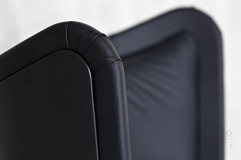 Detalle del acolchado de sofa de espera modelo Badmington