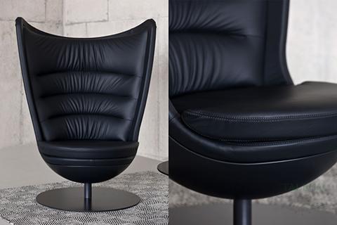 Detlle textura respaldo sofa de espera Badmington