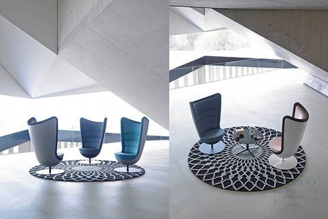 Composición sala de Espera creada con varios sofas Badmington