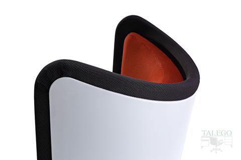 Detalle curva superior diseño sofa Badmington