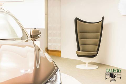 Vista sofa Badmington para apreciar su elegante linea de diseño