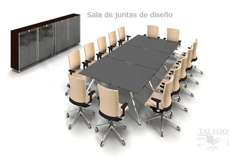 Proyecto de Mesa de Juntas con sillones giratorios