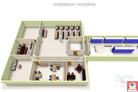 Proyecto para empresa con diferentes zonas de trabajo