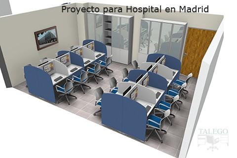 Proyecto de Puestos Call Center en blanco y Azul