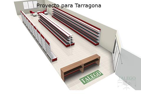 Proyecto de estanteria de comercio con mostradores