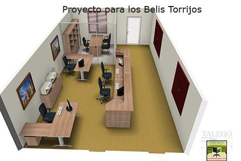 Proyecto de Oficina con Mostrador y puestos de trabajo