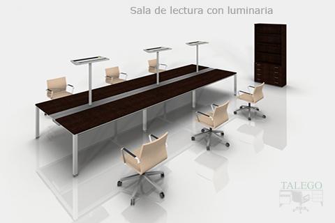 Proyecto para biblioteca con luminarias