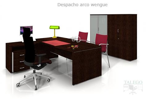 Proyecto despacho en wengue con armarios