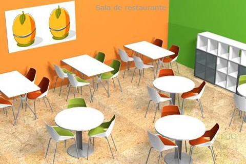 Proyecto mesas individuales redondas con silleria