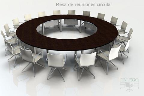 Proyecto mesa redonda formada por modulos individuales