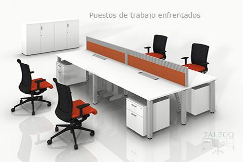 Proyecto Multipuesto de trabajo con divisorias de mesa