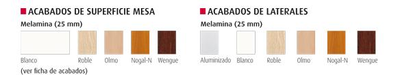 colores aplicables a mesas de reuniones ofimat