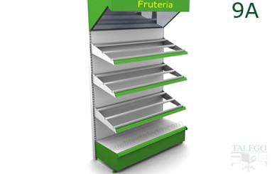 Estanteria estanteria frutero con espejo en verde y blanco