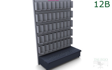 Modulo estanteria de comercio en gris para expositor de libros