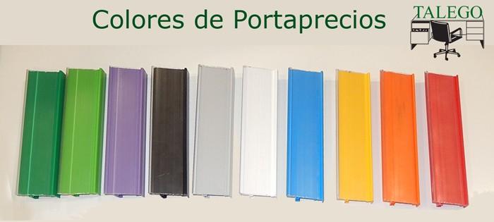 Colores disponibles para los Portaprecios