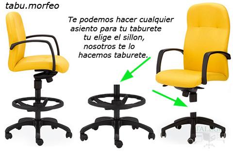 Ejemplo transformación sillon de trabajo en taburete
