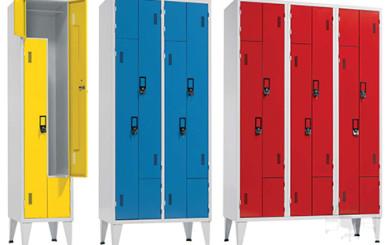 Conjunto de puertas en L con diferentes configuraciones y colores